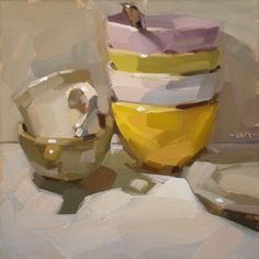 Carol Marine's Painting a Day: Still Life with Bottle & Brush Stroke Challenge .....