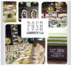 Posh Yellow & Green 30th Birthday Lunch at Zimbali