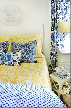 Light Gray Walls Robin S Egg Blue Bedding Bright Yellow