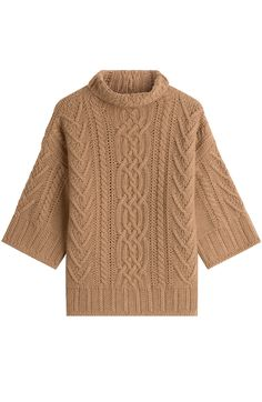 MAX MARA Virgin Wool Pullover With Cashmere. #maxmara #cloth #turtle neck