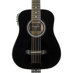 Traveler Guitar AG-200EQ Acoustic-Electric Travel Guitar Black #travelguitar