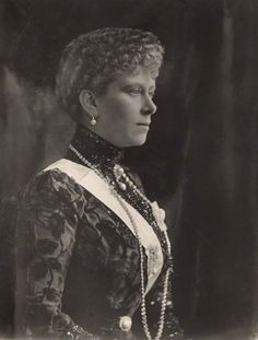 Queen Mary, wife of George V By Henry Walter ('H. Walter') Barnett Vintage bromide print, 1910