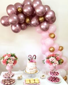 Must-see Princess Birthday Party Ideas and Decorations 25th Birthday, Princess Birthday, Birthday Celebration, Birthday Parties, 30th Birthday Ideas For Women, Cherry Blossom Theme, Birthday Table Decorations, Gold Bridal Showers, Party In A Box
