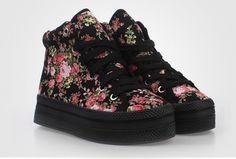 Canvas Floral Women Sneaker Shoes