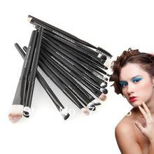 18,42 Pro 20 pcs maquiagem sombra sobrancelha Mascara Lip esponja Eyeliner Brushes Set Kit frete grátis(China (Mainland))