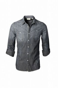 DKNY. Probably the ONLY denim shirt I would ever wear.