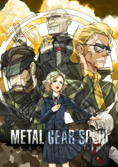 Metal Gear,mgs, Metal Gear Solid, ,фэндомы,Metal Gear Solid,Kaz Miller,Big Boss (MGS),Naked Snake,Paz,Paz (MGS),Metal Gear Art