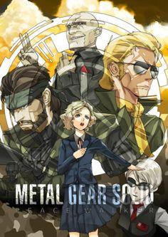 Metal Gear,mgs, Metal Gear Solid, ,фэндомы,Metal Gear Solid,Kaz Miller,Big Boss (MGS),Naked Snake,Paz,Paz (MGS),Metal Gear Art
