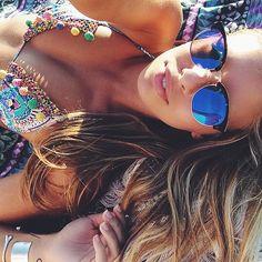 Gafas de sol estilo clubmaster - Gafas de sol espejo - Summertime - Mirror sunglasses - Sunnies - Shades - Beach - Clubmaster sunglasses