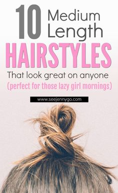 Looking for new ways to style your medium length hair? Look no further than these 10 great hair tutorials to give you a great a new look #hair #hairstyle #mediumlengthhair #DIYhair #hairupdos #beauty #beautyhair #naturalbeauty
