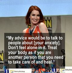 Celebrities Who Opened Up About Mental Health In 2015 Felicia Day talked to Forbes about dealing with anxiety and ending stigma.Felicia Day talked to Forbes about dealing with anxiety and ending stigma. That Way, Just For You, Felicia Day, Health Day, Mental Health Quotes, Deal With Anxiety, Keep Fighting, Feeling Alone, Positive Attitude