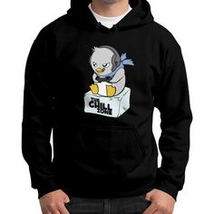 The Chill Zone Gildan Hoodie (on man)