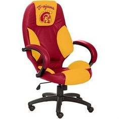#USC #Trojans #Leather Executive #Office #Chair.   Awesome USC office chair.  Fight on Trojans!