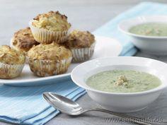 Spinatsuppe mit Muffins - smarter - Kalorien: 572 Kcal | Zeit: 30 min. #kids