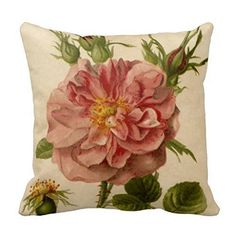 Generic Pretty Pink Vintage Rose Throw Pillowcase 18 'X18 ' * Wow! I love this. Check it out now! : DIY : Do It Yourself Today