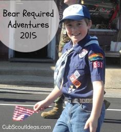 """Cub Scouting is all about adventure! To earn their rank badge, Bear Cub Scouts complete seven """"adventures,"""" which are collections of themed, multidisciplinary activities. They also complete safety exercises. Below, you'll find the exact requirements. Cub Scouts Wolf, Tiger Scouts, Cub Scout Activities, American Heritage Girls, Bear Cubs, Bears, Scout Camping, Day Camp, Scout Leader"""