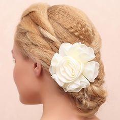 Gorgeous Cotton/Lace Bridal Flower Headpiece  – AUD $ 2.45