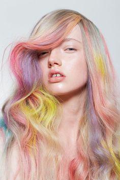 Rainbow pastel hair!
