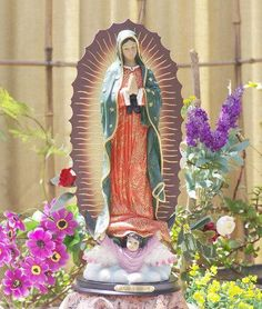 Antique Mexican Santos   Our Lady Of Guadalupe | Archaeology | Pinterest |  Lady, Of And Santos