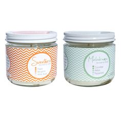 all natural soy candles w/ sweet, preppy packaging