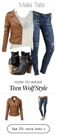 """""""Malia Tate - tw / teen wolf"""" by shadyannon on Polyvore featuring Paige Denim and Free People"""