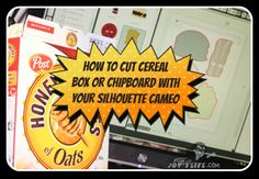How to Cut Chipboard or Cereal Box with the Silhouette Cameo