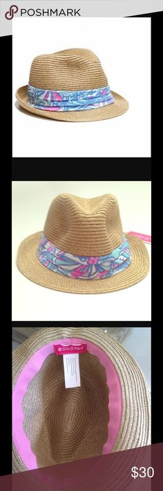 NWT Liily Pulitzer Fedora Hat 🌴⛱ Lilly Fans Get Ready For Summer in this stylish Fedora Hat Lilly Pulitzer for Target Accessories Hats