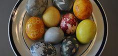 Tea Dyed Easter Eggs