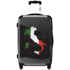 iKase 'Italian Flag' Check-in 24-inch,Hardside Spinner Suitcase