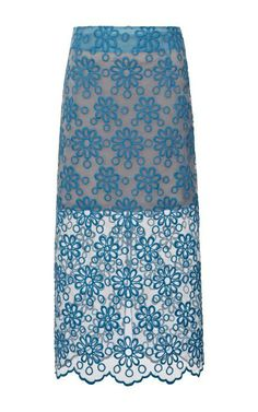 Faith Floral-Embroidered Organza Midi Skirt by Karla špetic Now Available on Moda Operandi