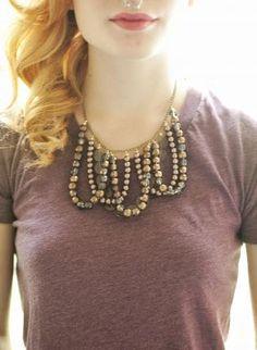 handmade, statement necklace  - inspiration