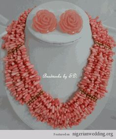 Nigerian wedding coral bead jewelry
