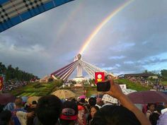 Miracle rainbow in the Philipines