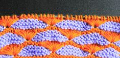 Anything Creative: Multicolor Knit Pattern a Day - Day 12 - SHELL STI...