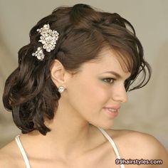 brown medium wedding hairstyle - 99 Hairstyles Ideas