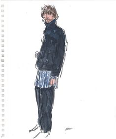 Richard Haines fashion sketches  so free and rich