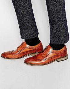 Base London Durham Leather Derby Brogues