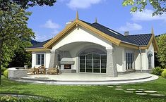 Arabella wersja A Beautiful House Plans, Beautiful Homes, Modern Bungalow House, Plans Architecture, My House Plans, Good House, Design Case, Apartments For Sale, Home Fashion