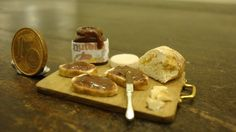 "Miniature tasty snack chopping ""Nutella"". $24.50, via Etsy."