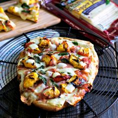 Grilled Peach & Pepper Jack Pizza @simplysated @sargentocheese #realcheesepeople