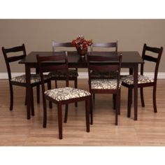 @Overstock - Revamp your kitchen decor with this 7-piece dining room set from Warehouse of Tiffany. This set includes six gorgeous chairs and an oak wood table.http://www.overstock.com/Home-Garden/Warehouse-of-Tiffany-Callan-7-piece-Dining-Furniture-Set/6319089/product.html?CID=214117 $590.99