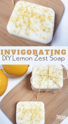 This Invigorating Lemon Zest Soap recipe is easy to make. Better than that, the soap will leave you energized and exfoliated! Lemon Soap, Honey Soap, Soap Making Recipes, Homemade Soap Recipes, Diy Soap Easy, Zest Soap, Essential Oils For Laundry, Homemade Body Wash, Peppermint Soap