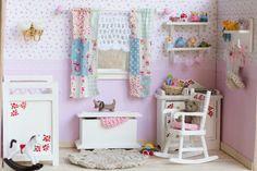 Habitación infantil en miniatura.