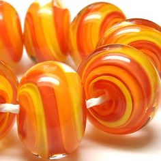 'Flame' Whirly-Go-Rounds CiM Caboose, Creamsicle and Hollandaise, all wrapped up in CiM Clear.