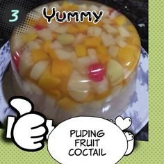 Fruit cocktail puding