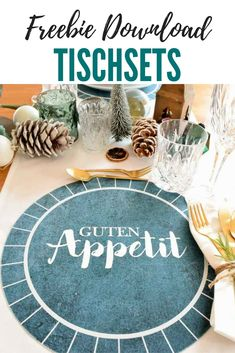 Placemats for Christmas table - Freebie