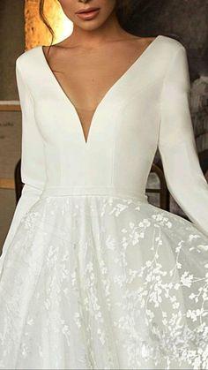 Minimalist Wedding Dresses, Princess Wedding Dresses, Elegant Wedding Dress, Modest Wedding Dresses, Designer Wedding Dresses, Sexy Dresses, Bridesmaid Dresses, Dresses With Sleeves, Event Dresses
