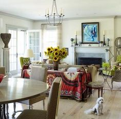 Brian J. McCarthy's Pooch in a Layered Living Room