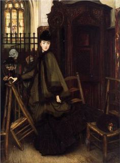 In Church - James Tissot, c.1865-9