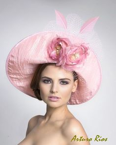 Pretty hat covered in silk shantung, I think.  #millinery #judithm #hats